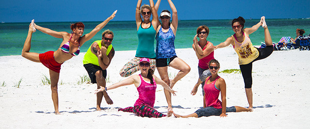Thrive beach yoga weekend session